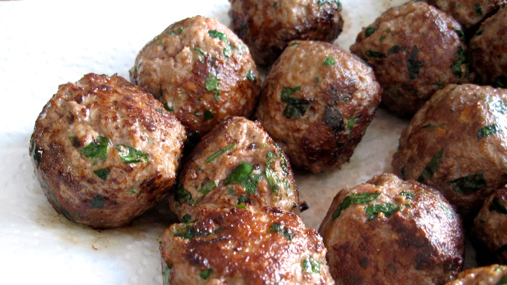 cheese-stuffed meatballs   the eating project